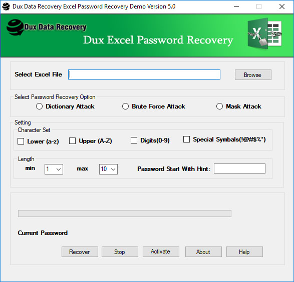 Dux Excel Password Recovery Software 5.0